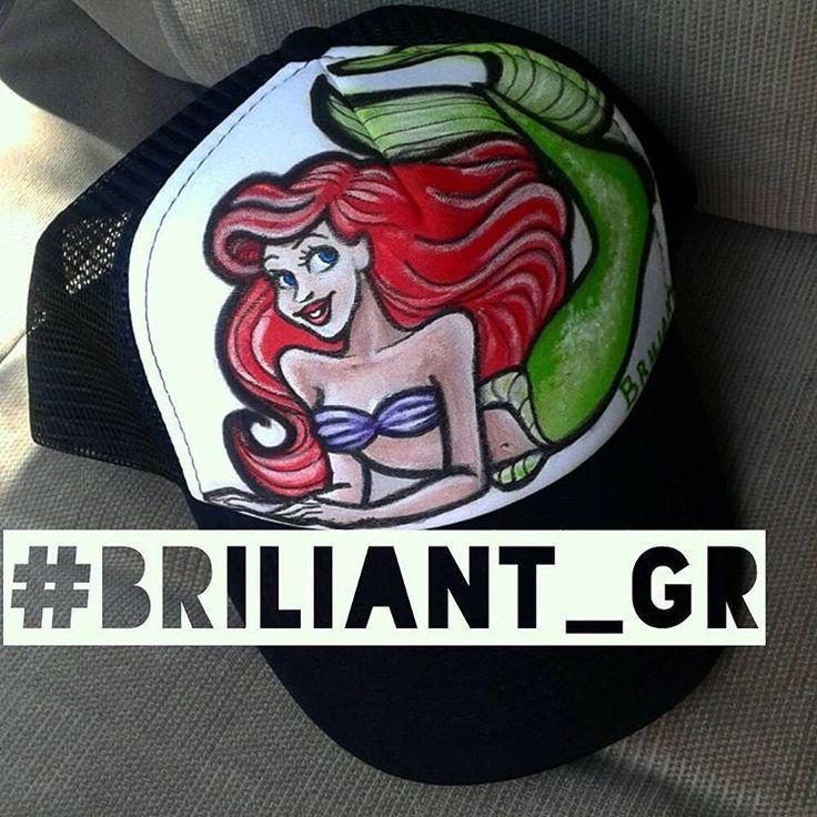 briliant_grThe little mermaid #Ariel by @briliant_gr #handpainted #briliant_gr #briliantgr #brilianthatproject #ariel #artonhat #art #artist #hat #thelittlemermaid #mermaid #fanart #disneyprincess