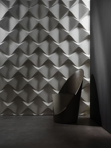 Panel decorativo para revestimiento exterior / de pared / para decoración interior / de mortero reforzado con fibras CAOS 3D surface