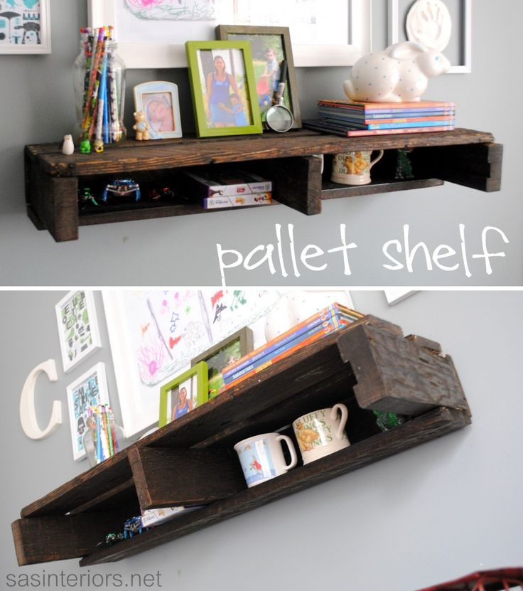 pallet shelf...now I'm on this pallet thing! This is really pretty neat though!