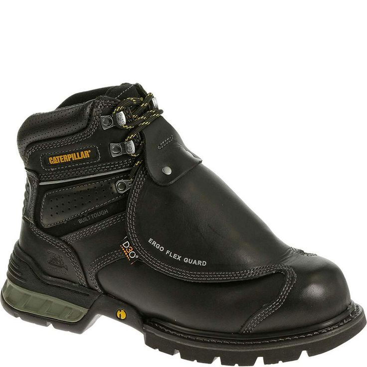 Men's Caterpillar Second Shift Steel Toe Work Boot, Size: 8 M, Black Seminole