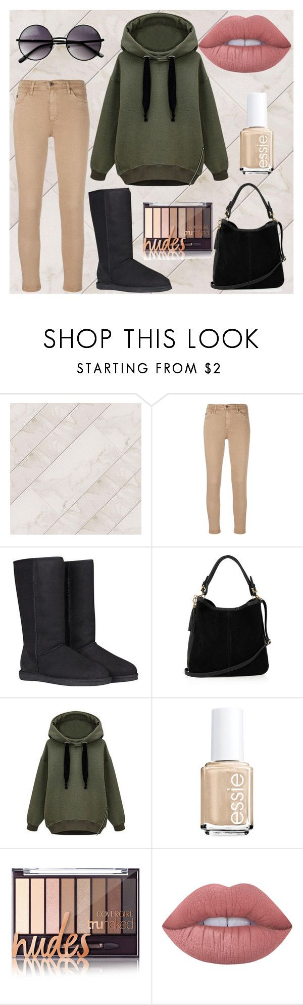 """""""University"""" by rominajavierafg on Polyvore featuring moda, AG Adriano Goldschmied, UGG Australia, Oasis, WithChic, Essie, Lime Crime y ZeroUV"""