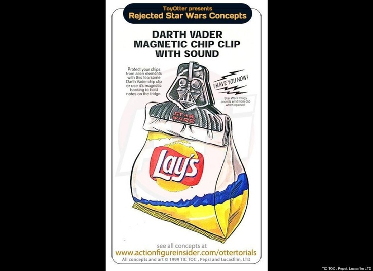 Rejected Star Wars Merchandise Includes magnetic clip with sound