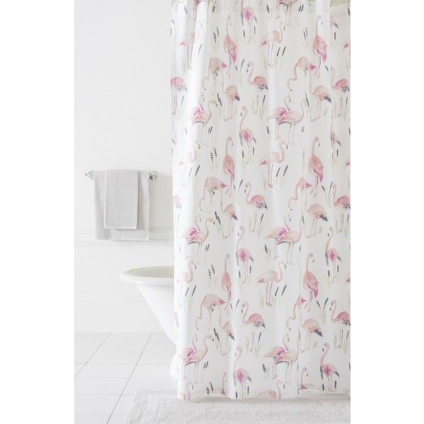 Pine Cone Hill Flamingos Shower Curtain 135 CAD Liked On Polyvore Featuring Home