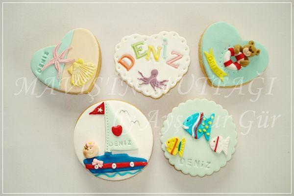 Kız ya da erkek bebek için hazırlanabilecek ,kişiye özel tasarım butik kurabiyeler...