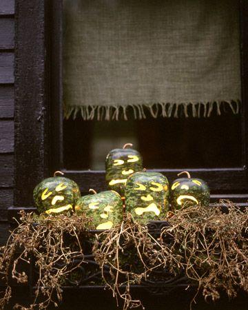 Spooky Halloween Pumpkin Window Box