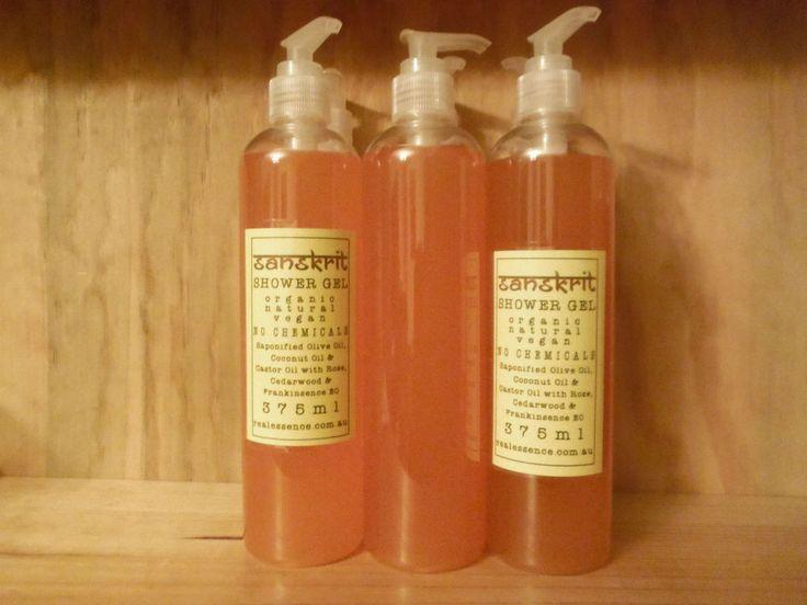 SANSKRIT Liquid Shower Gel Handmade and Homemade in Australia