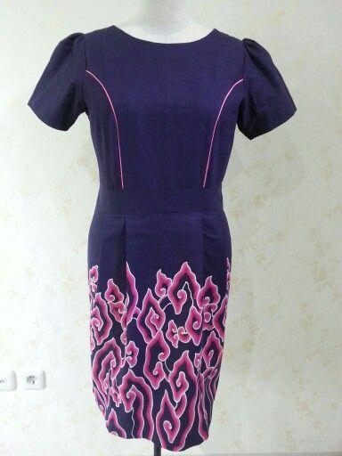 Batari dress made from batik mega mendung. Dress is made by Dongengan (Facebook: https://m.facebook.com/dongengan)