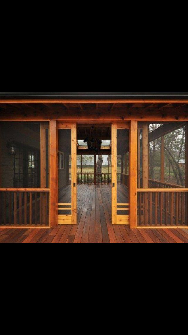 Love the looks of these does in a screened in porch!