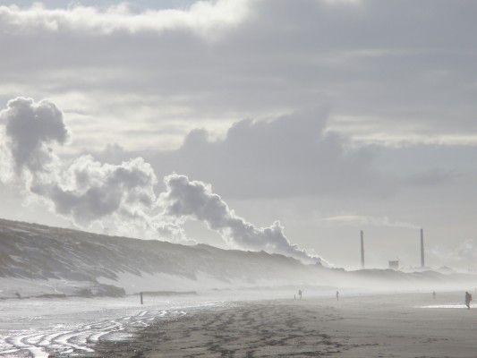 Beach at Castricum, Holland. Wow, I can see why everyone was talking about those big sandhills rising off the beach now.