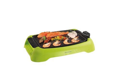 Barbecue Domoclip Barbecue de table 2en1 - Grill et plancha - Finition Fonte d'alu et thermoplastique