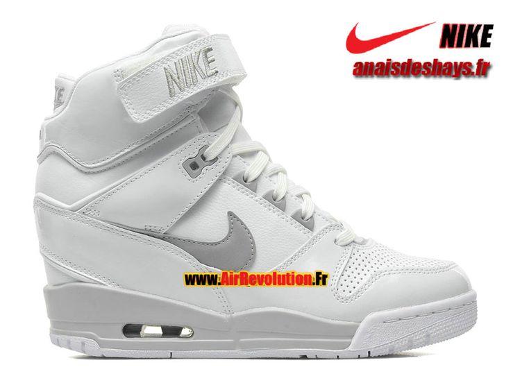 Boutique Officiel Nike Air Revolution Sky Hi GS Blanc/Hyper cocktail-Argent métallique-Gris loup 599410-102