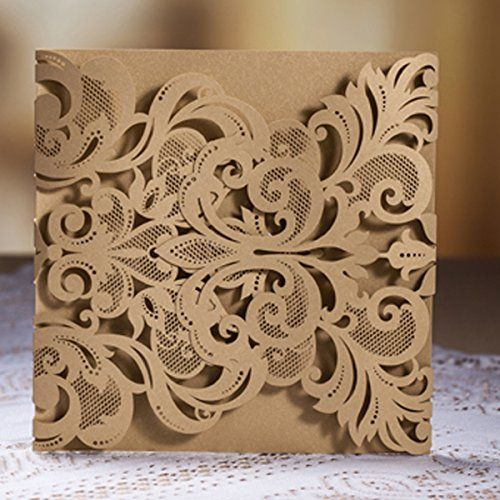 Luxury Laser Cut Lace Fleur De Lis Wedding Invitation Invite Template Card Cover (50PCS) AllHeartDesires http://www.amazon.com/dp/B00LMU5Q92/ref=cm_sw_r_pi_dp_Mv76tb14BWKQZ