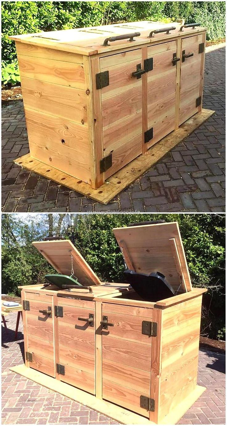 There are many people who think that the dustbin look weird when they are placed visibly and it is true to some extent, so here we have an idea to hide them. Create this dumpsters storage idea and you can easily place the dumpsters inside without making it look weird.