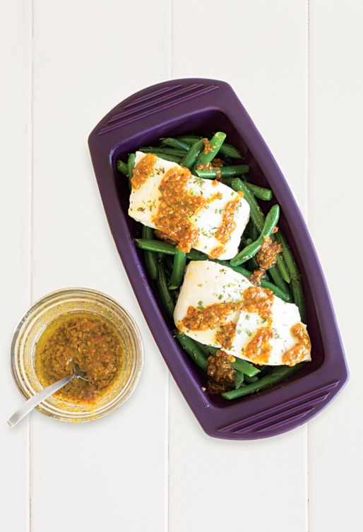 #Epicure Lemon Herbed Fish & Green Beans