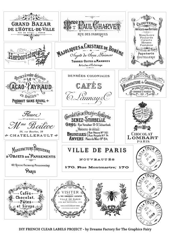 photograph relating to Printable Clear Labels called Do it yourself Distinct French Labels Venture + free of charge printable creations
