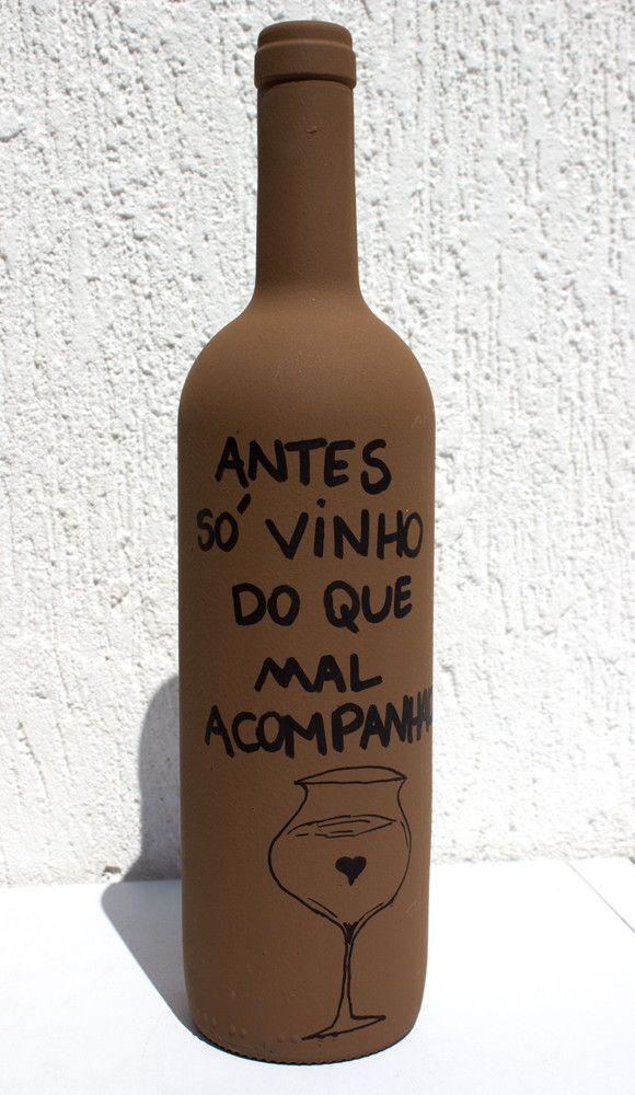 Garrafa Decorada - Vinho | Interage Studio | Elo7