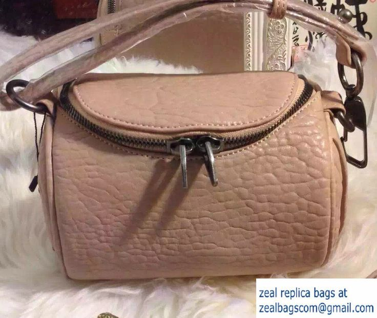 Alexander Wang Pebbled Leather Rockie Mini Bag Nude Pink
