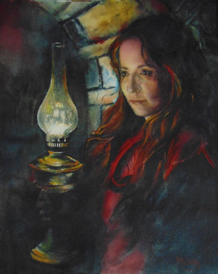 """""""Somewhere in time""""- self portrait- watercolor"""