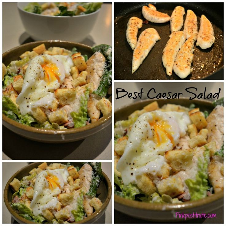 Best EVER Chicken Caeser Salad Recipe #salad #recipe #yummy #chicken #summerrecipe