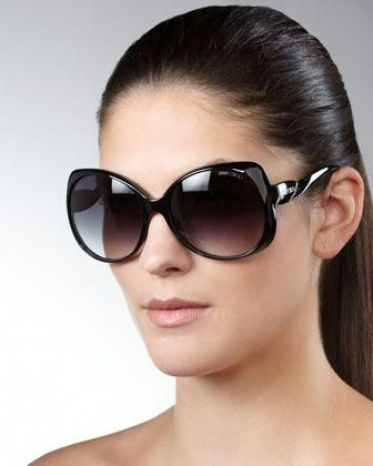 862bd369cb0 Oversized Sunglasses by Jimmy Choo at Neiman Marcus.