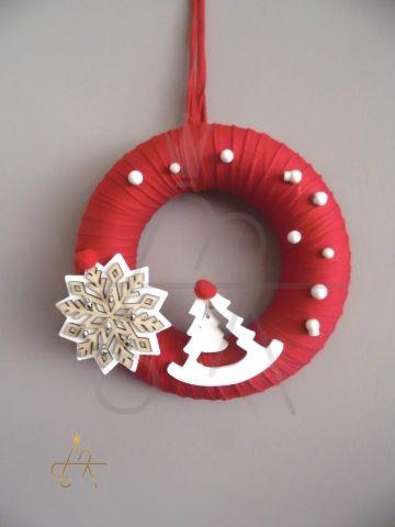 Handmade Christmas Wreath !!! Χειροποιητο πλεκτο στεφανι