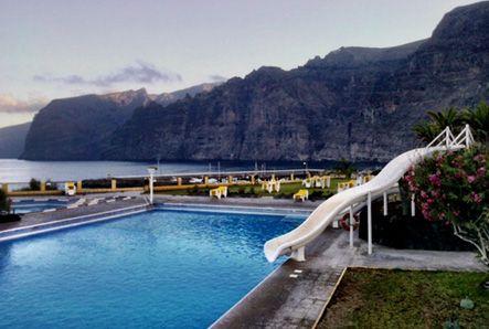 Public pool Oasis & restaurant, Los Gigantes, Tenerife #Canarias