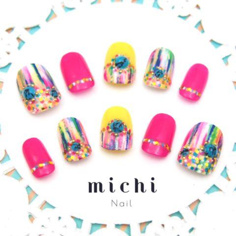 Colorful Vivid Art Nail