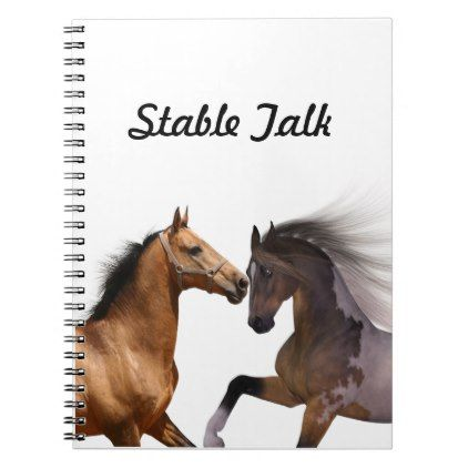 Personalized journal stable talk horses - office ideas diy customize special