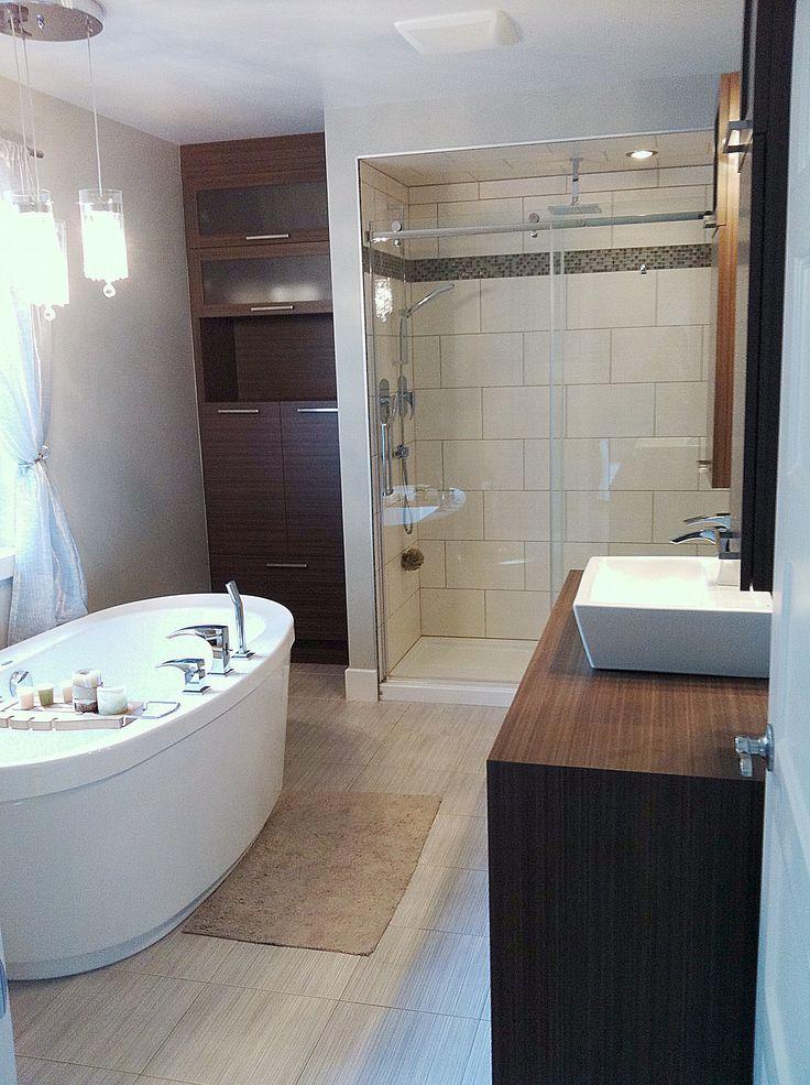 Les 25 meilleures id es concernant bain autoportant sur pinterest salles de bain modernes for Salle de bains douche saint paul