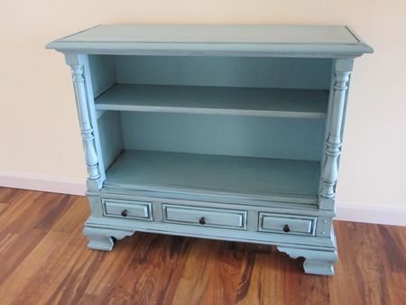Hard to believe this started out as an old tv cabinet!  I love love love repurposed furniture!
