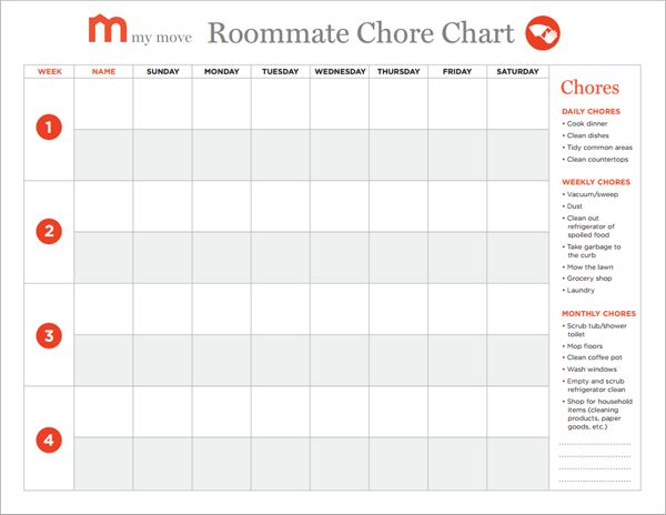 Best 25+ Roommate chore chart ideas on Pinterest Weekly - chores schedule template