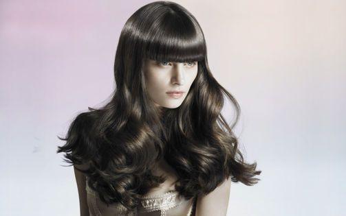 präsentiert von www.my-hair-and-me.de  #women #long #hair #lange #haare #straight #glatt #pony #locken #curls #curly #lockig