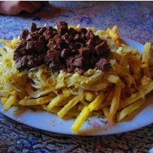 Chorrillanas en Santiago Province.  La chorrillana es realmente jugosa y sabrosa.  http://www.onfan.com/es/especialidades/santiago/j-cruz/chorrillanas?utm_source=pinterest&utm_medium=web&utm_campaign=referal