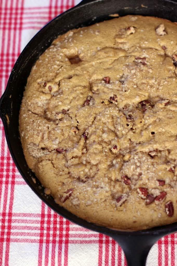 One-Skillet Gooey Pumpkin Cookie Cake