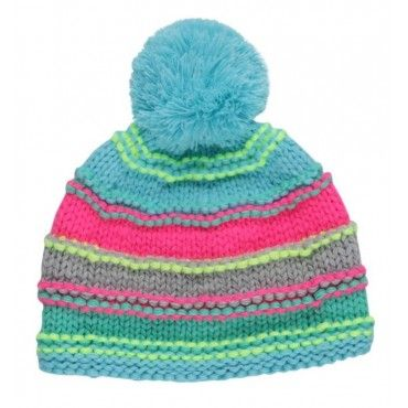 Molo Jaye Ocean Ice Stripe Knitted Hat