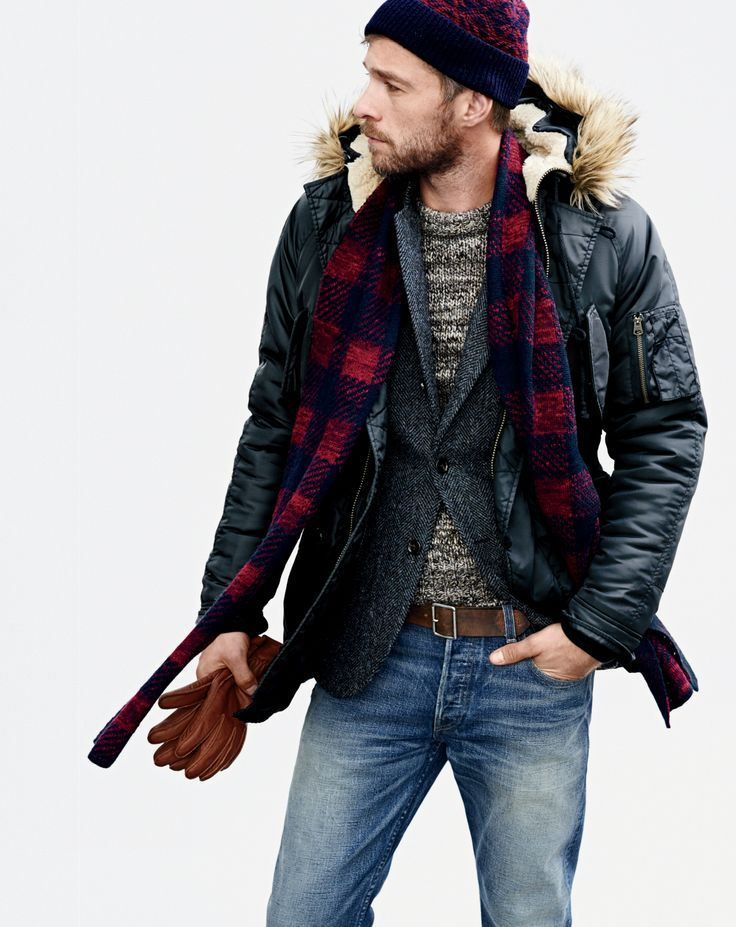 men's faux fur hooded anorak jacket.
