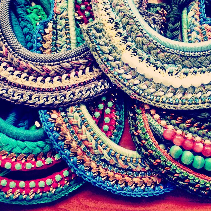 New ... #diy !!!! #necklace #statementnecklaces #bling #jewelry #fashion #accessories #crochet #collar #handmade #statement