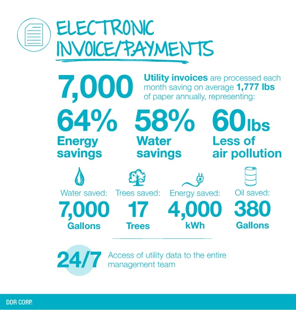 DDR Sustainability Initiatives - Electronic Invoice Payments