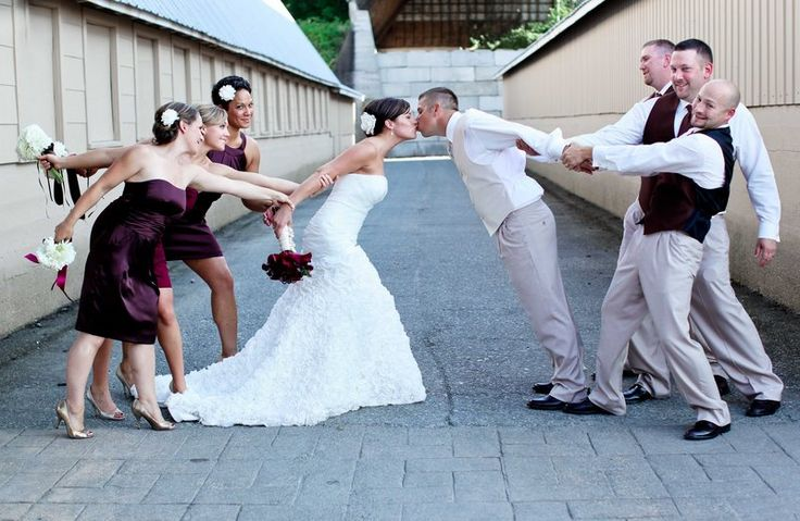 If I did this I would want the bridal party to look likr they are trying to keep us apart, not half ass