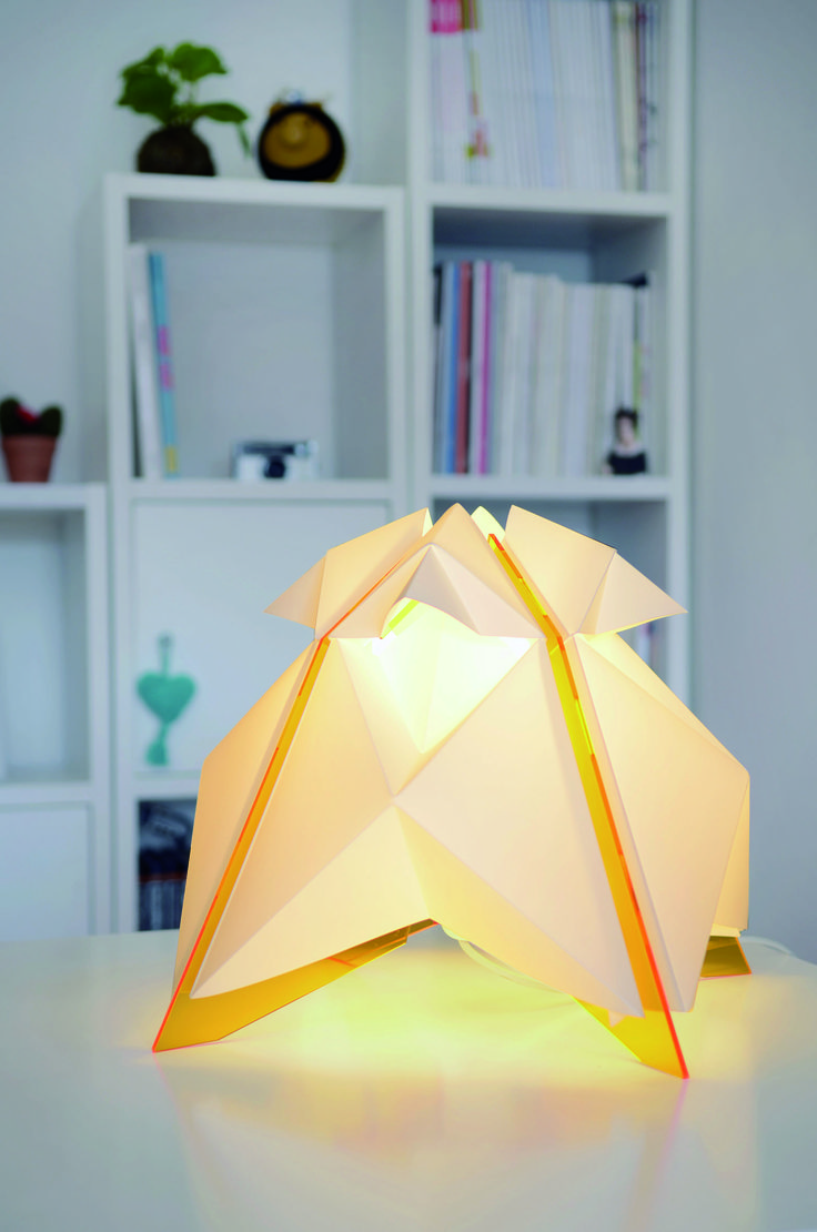 SURIA AMBER #7Rayos #Argentina #lamp #light #design #origami #popup #geometric #shape #wanteddesign #nycxdesign #nycxd
