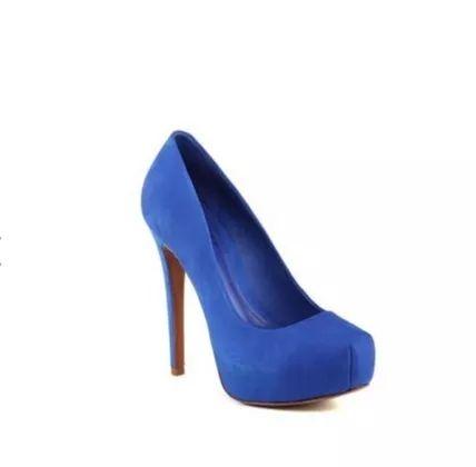 sapato azul meia pata schutz tam 35 novo - promoção desconto