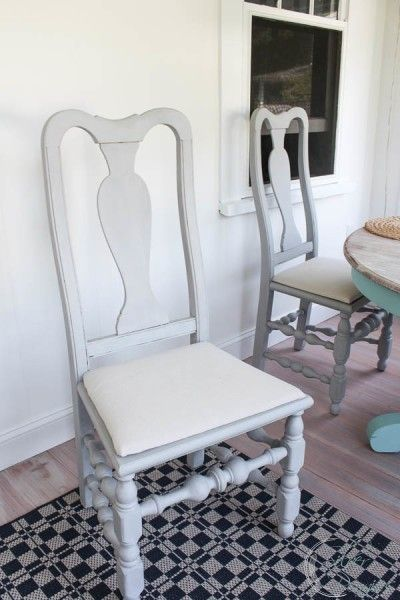 Our Sunroom Furniture (Before U0026 After. Chalk Paint ChairsPainted ...
