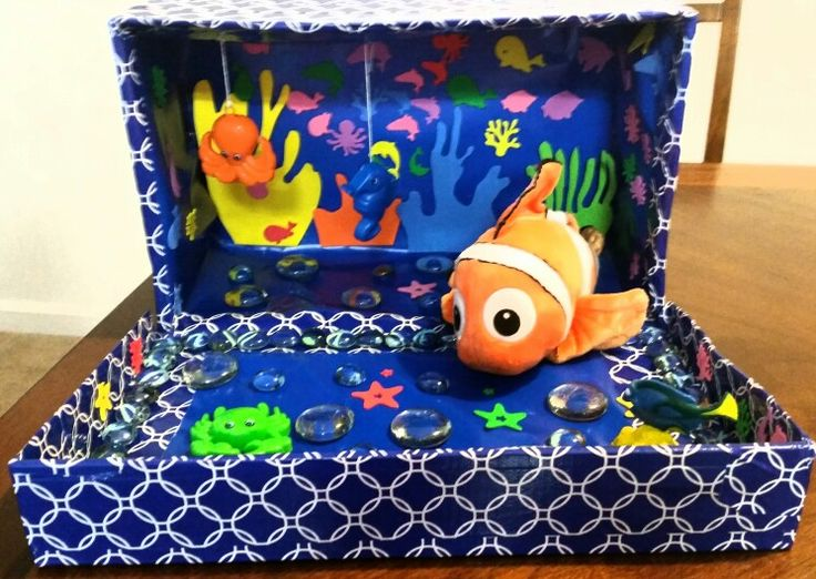 9 best 3d fish habitat images on pinterest crafts for for Clown fish habitat