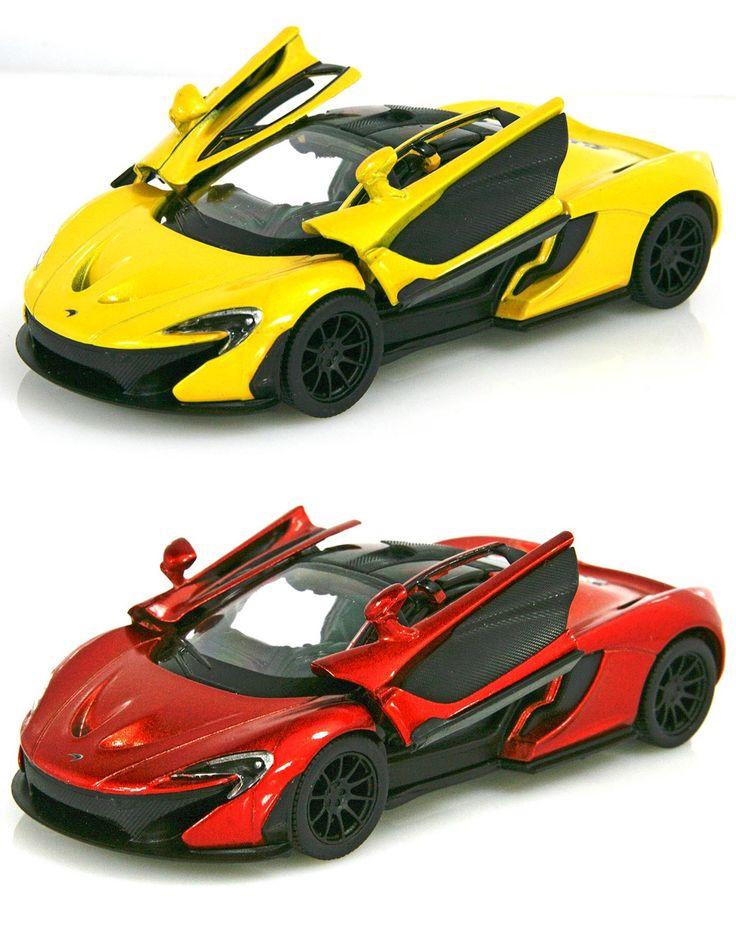 MCLAREN P1 GIALLA 1:36 Modellino metallo c/molla richiamo cm 12,5x5,5x4 Per bambini #mclaren #automodellini