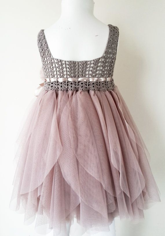 Ready to ship.Taupe and Pinky Beige Empire Waist by AylinkaShop