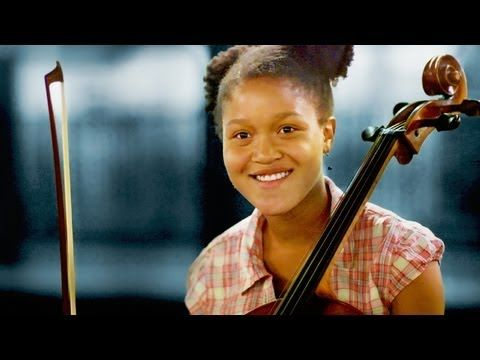 Prodigy cellist, Sujari Britt, performs Edward Elgar's Concerto in E Minor at the Manhattan School of Music recital.