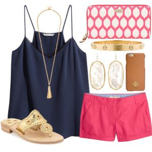 navy and pink- my fav color combo- and the kendra scott earrings with some cute jacks! ADORBS