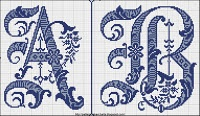 Many old time cross stitch patterns now in public domain | great source | curiously missing letters W and X | patternmakerschart.blog