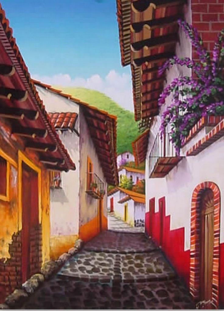 Cuadros Modernos Pinturas : 01/05/13 paisajesybodegonesaloleo.blogspot.com791 × 1099Buscar por imagen Pueblos y pintura tradicional mexicana