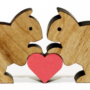 Squirrels w/ heart for.... something